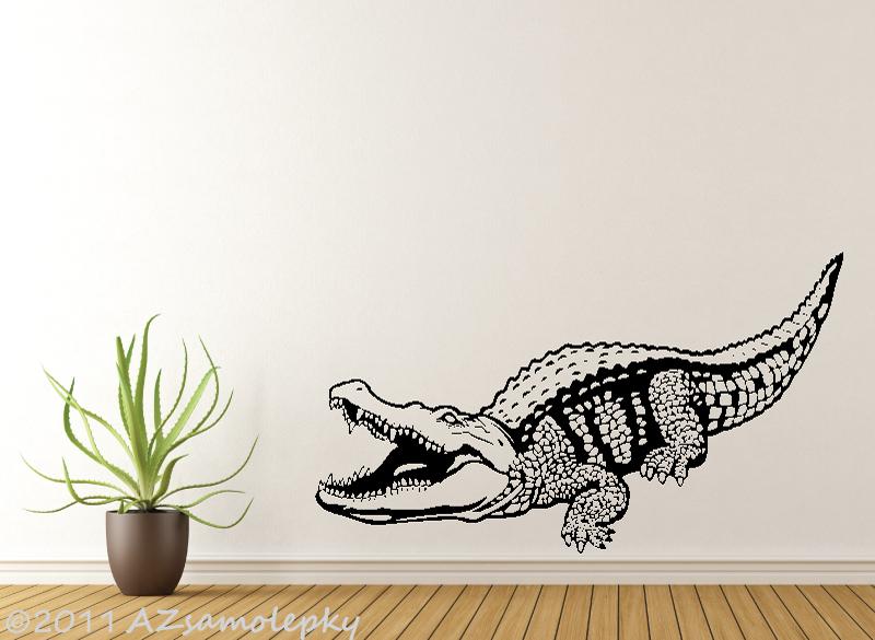 ZVÍŘATA - samolepky na zeď - Samolepky na zeď - Krokodýl