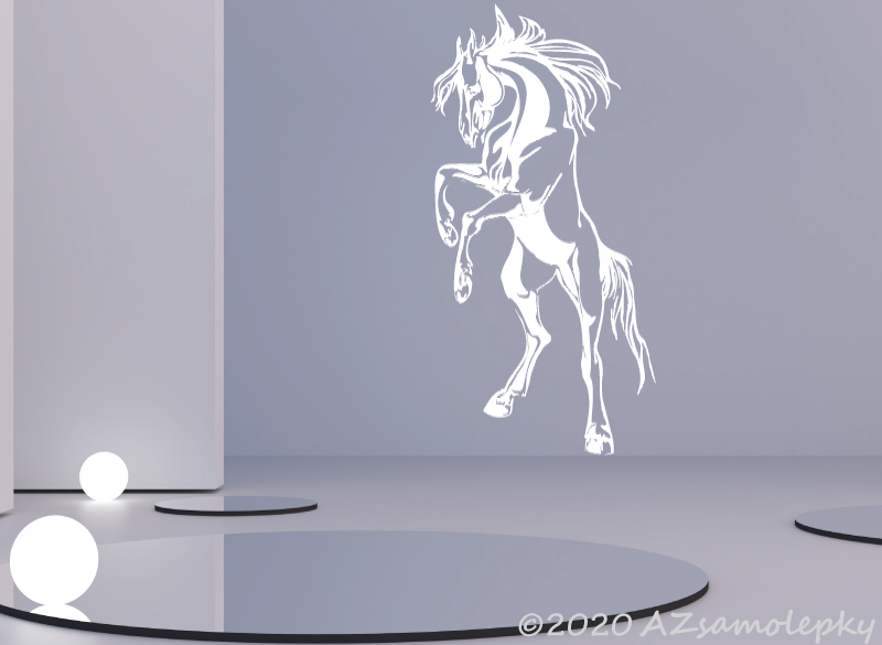 ZVÍŘATA - samolepky na zeď - Samolepky na zeď - Kůň III
