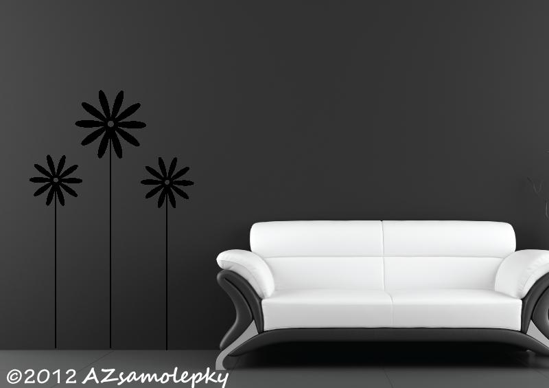 ROSTLINY - samolepky na zeď - Samolepky na zeď - Květina 1 + 2