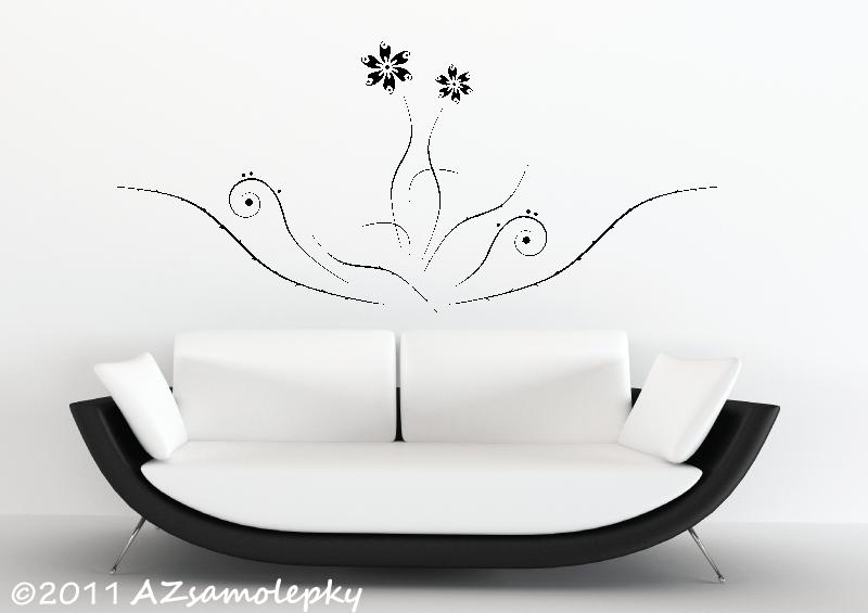 ROSTLINY - samolepky na zeď - Samolepky na zeď - Květina Duo Ring