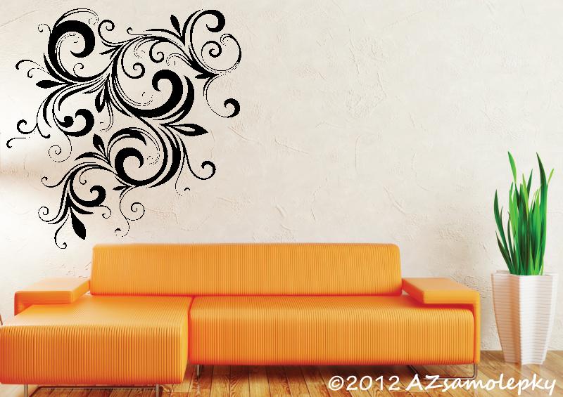 ROSTLINY - samolepky na zeď - Samolepky na zeď - Květina Ornament