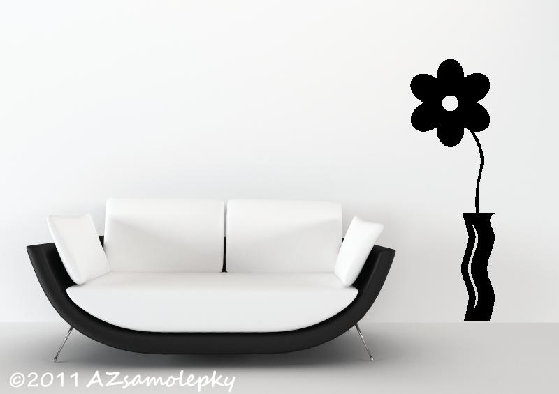 ROSTLINY - samolepky na zeď - Samolepky na zeď - Květina Uno ve váze