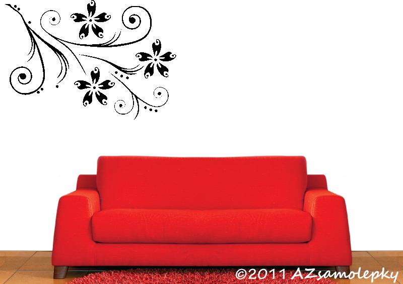 ROSTLINY - samolepky na zeď - Samolepky na zeď - Květinová stěna Uno Ring