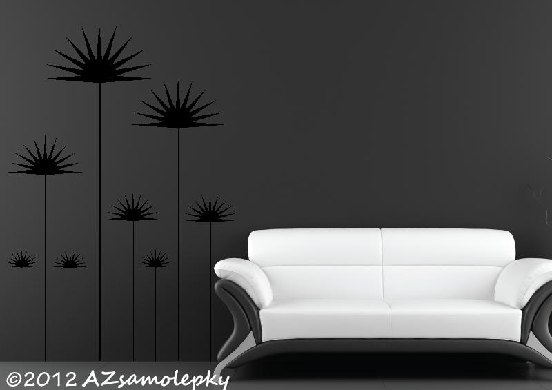 ROSTLINY - samolepky na zeď - Samolepky na zeď - Květiny NEEDLES