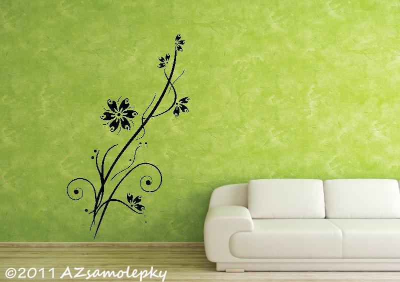 ROSTLINY - samolepky na zeď - Samolepky na zeď - Kvetoucí větvička