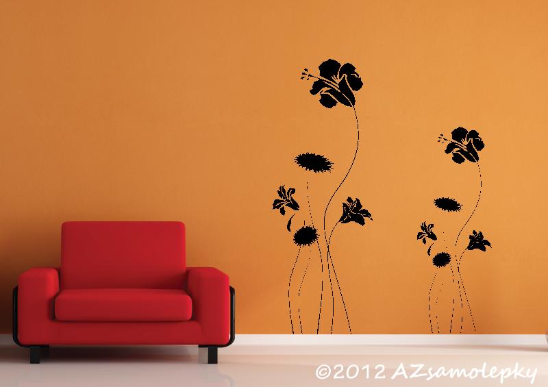 ROSTLINY - samolepky na zeď - Samolepky na zeď - Kvítka luční