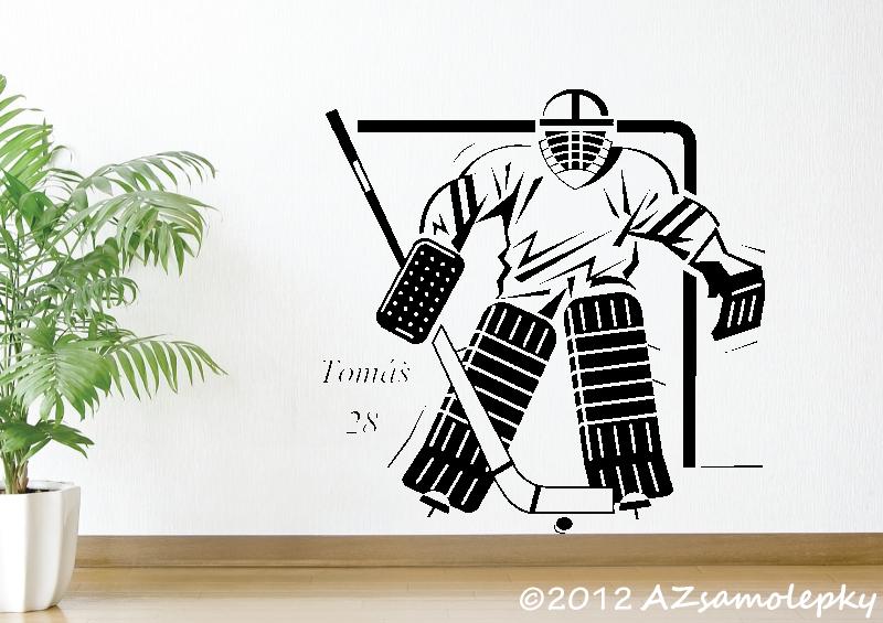 SPORT a ZÁJMY - samolepky na zeď - Samolepky na zeď - Lední hokej-brankář