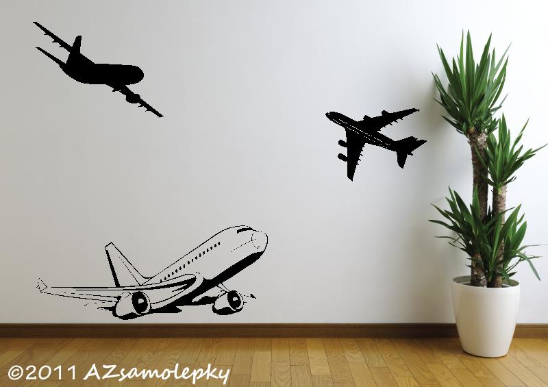 TECHNICKÉ samolepky na zeď - Samolepky na zeď - Letadla