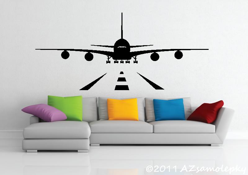 TECHNICKÉ samolepky na zeď - Samolepky na zeď - Letiště