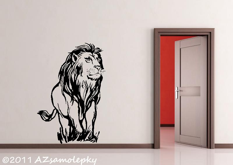 ZVÍŘATA - samolepky na zeď - Samolepky na zeď - Lev