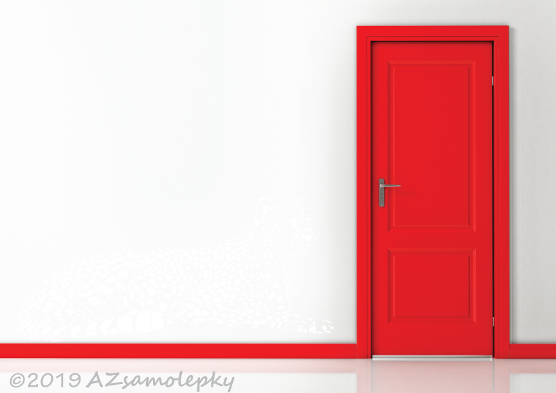 ZVÍŘATA - samolepky na zeď - Samolepky na zeď - Ležící gepard