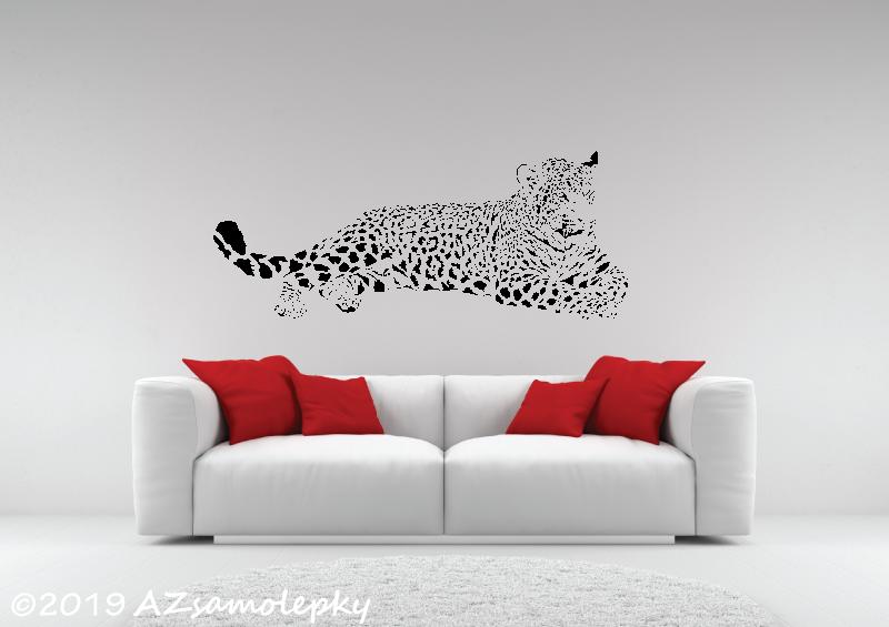 ZVÍŘATA - samolepky na zeď - Samolepky na zeď - Ležící jaguár I