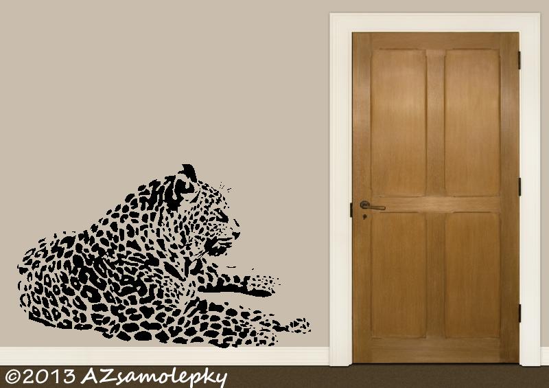 ZVÍŘATA - samolepky na zeď - Samolepky na zeď - Ležící jaguár