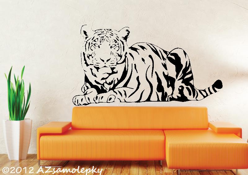 ZVÍŘATA - samolepky na zeď - Samolepky na zeď - Ležící tygr
