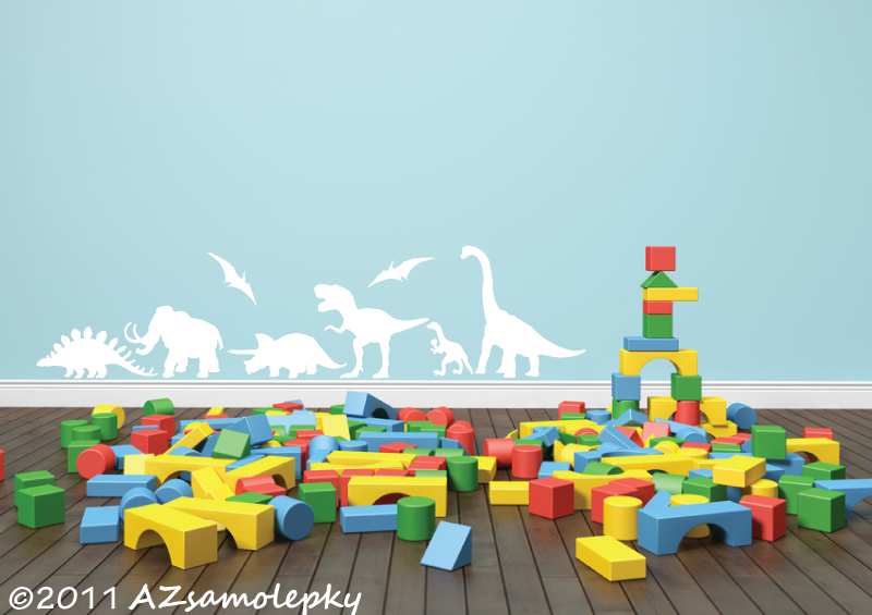 DĚTSKÉ samolepky na zeď - Samolepky na zeď - Listela - Dinosauři