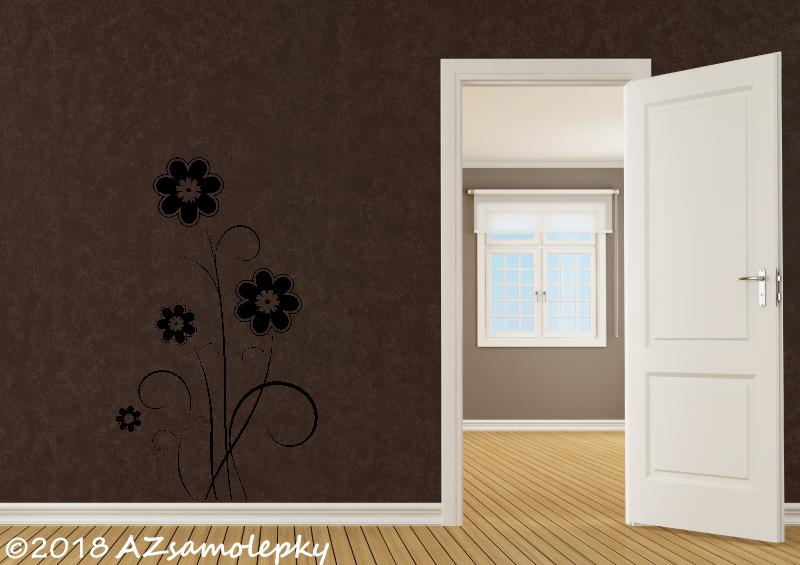 ROSTLINY - samolepky na zeď - Samolepky na zeď - Luční květina