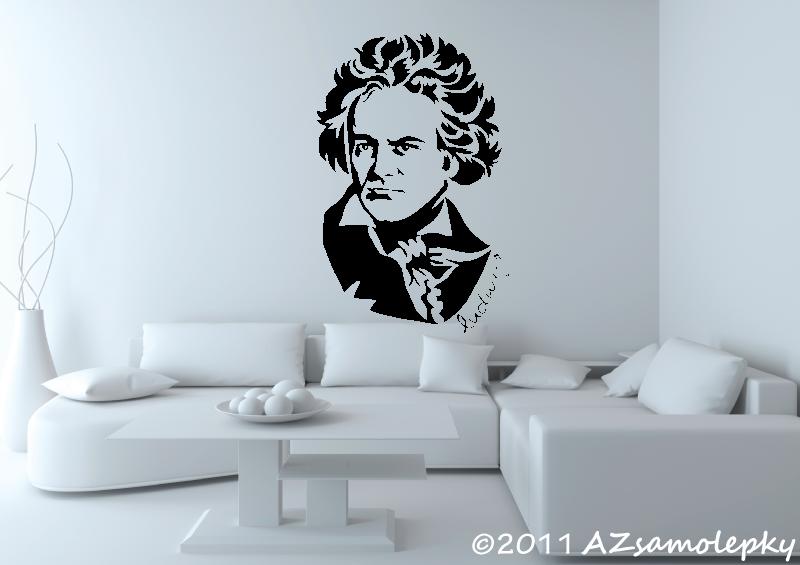 POSTAVY a OSOBNOSTI - Samolepky na zeď - Ludwig van Beethoven