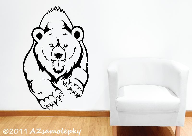 ZVÍŘATA - samolepky na zeď - Samolepky na zeď - Medvěd