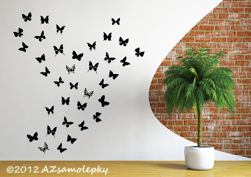 ZVÍŘATA - samolepky na zeď - Samolepky na zeď - Mini - motýlci