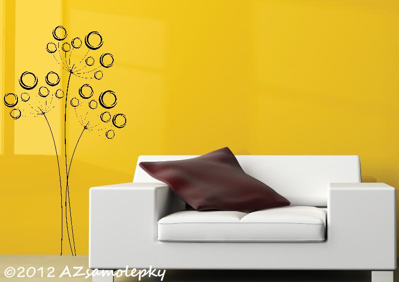 ROSTLINY - samolepky na zeď - Samolepky na zeď - Moderní bublinkový kmín