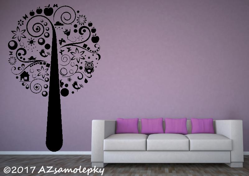 STROMY - samolepky na zeď - Samolepky na zeď - Moderní strom