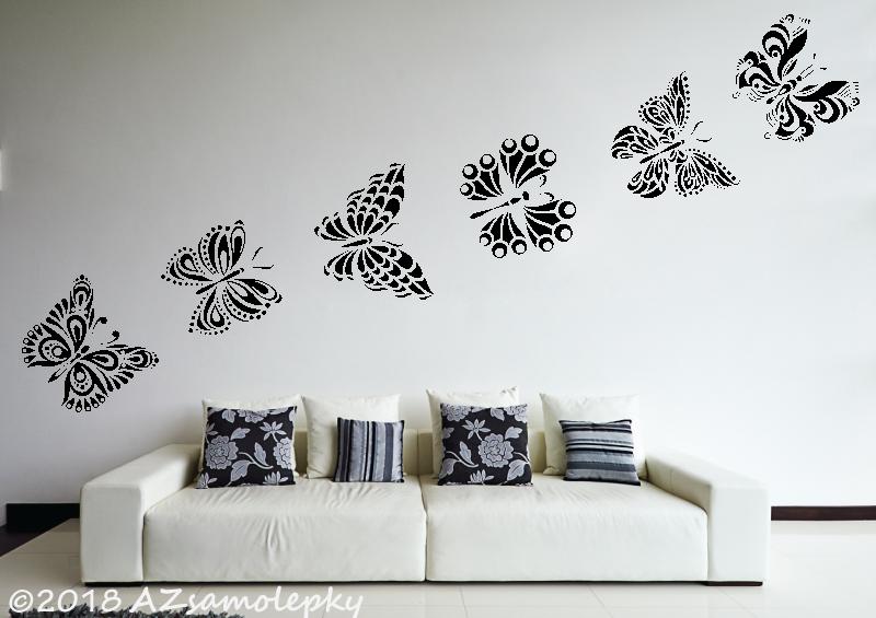 ZVÍŘATA - samolepky na zeď - Samolepky na zeď - Motýlci Beauty