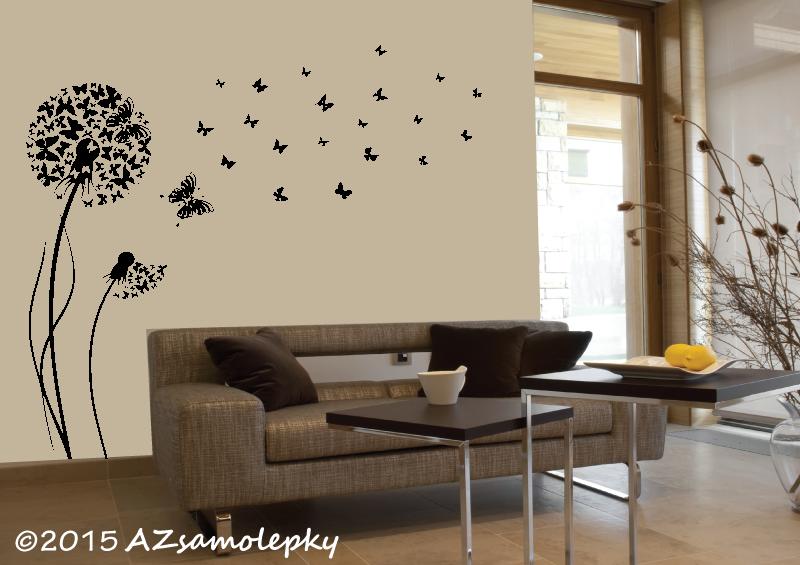 ROSTLINY - samolepky na zeď - Samolepky na zeď - Motýlková pampeliška