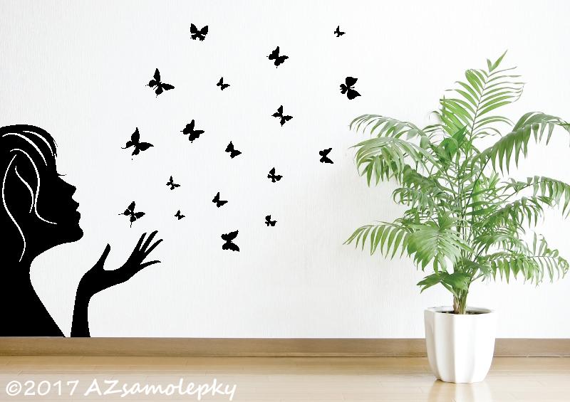 POSTAVY a OSOBNOSTI - Samolepky na zeď - Motýlkový bublifuk