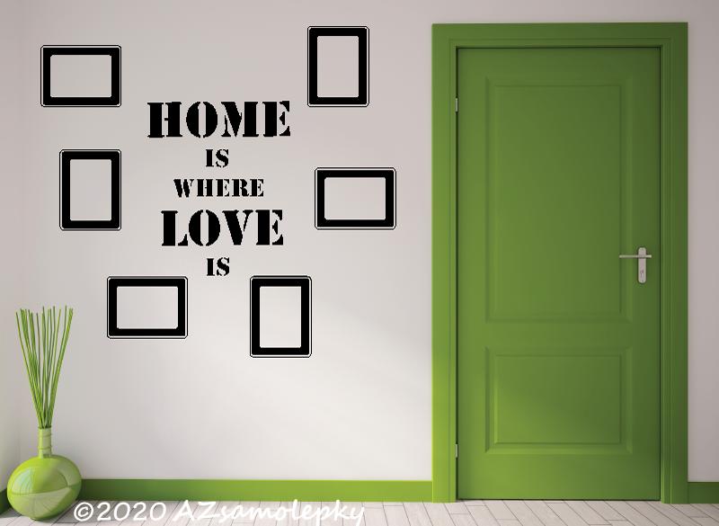 NÁPISY, CITÁTY, TEXTY a ZNAKY - Samolepky na zeď - Nápis - FOTO - Home - Love
