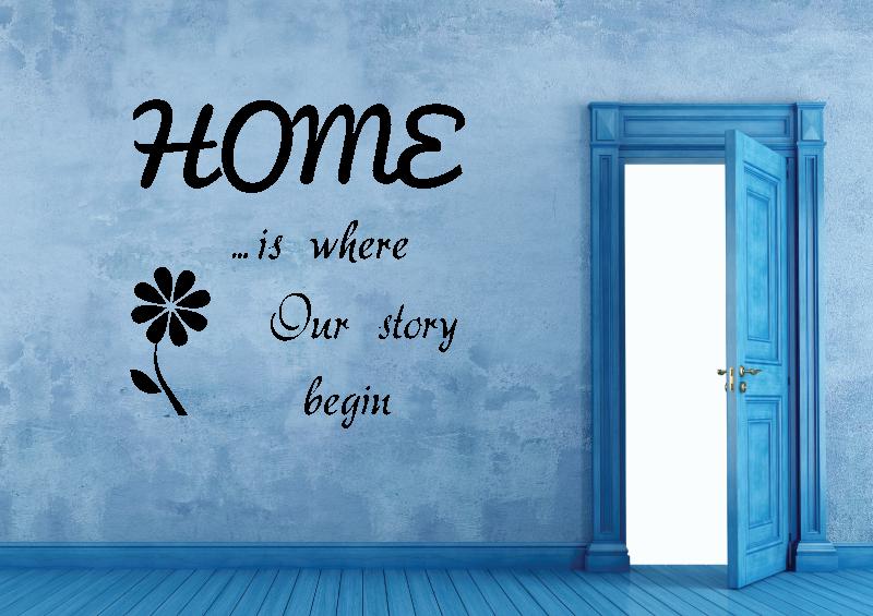 NÁPISY, CITÁTY, TEXTY a ZNAKY - Samolepky na zeď-Nápis-Home II.