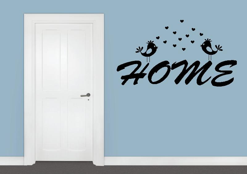 NÁPISY, CITÁTY, TEXTY a ZNAKY - Samolepky na zeď-Nápis-Home