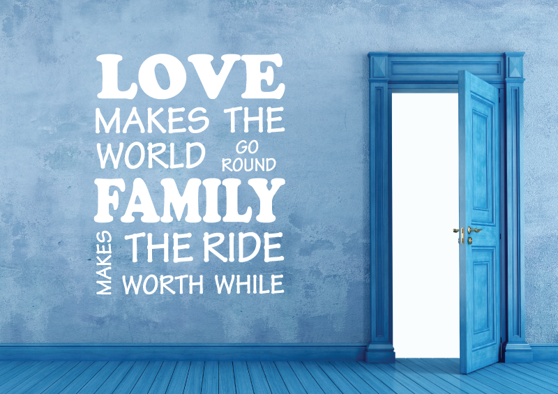 NÁPISY, CITÁTY, TEXTY a ZNAKY - Samolepky na zeď-Nápis-LOVE-FAMILY