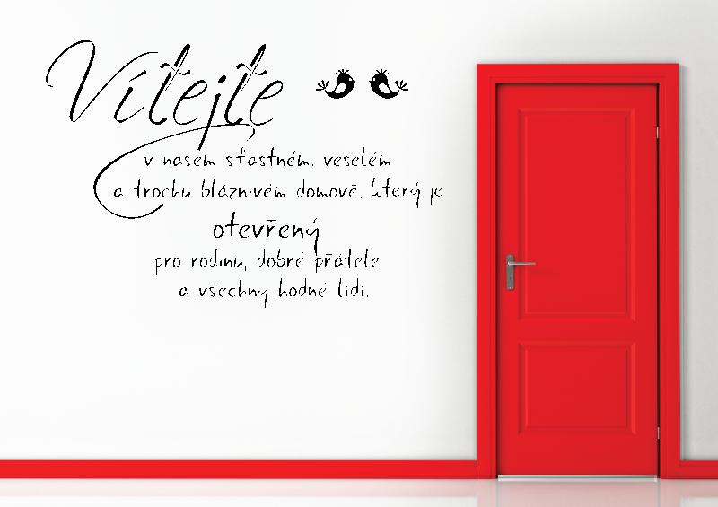 NÁPISY, CITÁTY, TEXTY a ZNAKY - Samolepky na zeď-Nápis-Vítejte I