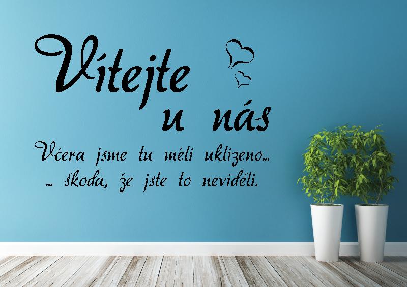 NÁPISY, CITÁTY, TEXTY a ZNAKY - Samolepky na zeď-Nápis-Vítejte IV.