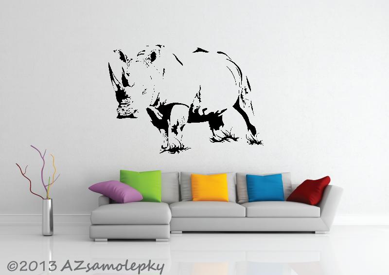 ZVÍŘATA - samolepky na zeď - Samolepky na zeď - Nosorožec