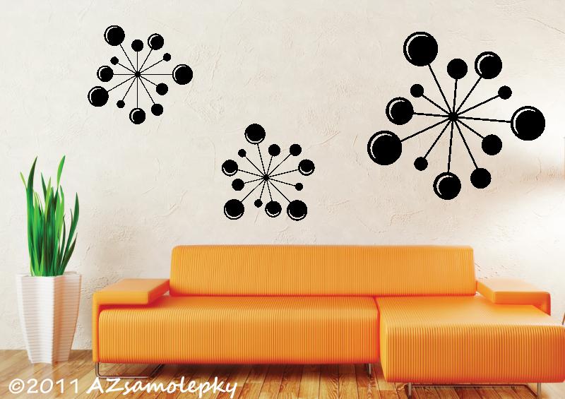 MODERNÍ samolepky na zeď - Samolepky na zeď - Obrazce Bubble