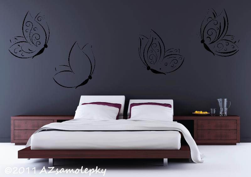 ZVÍŘATA - samolepky na zeď - Samolepky na zeď - Ozdobní motýlci