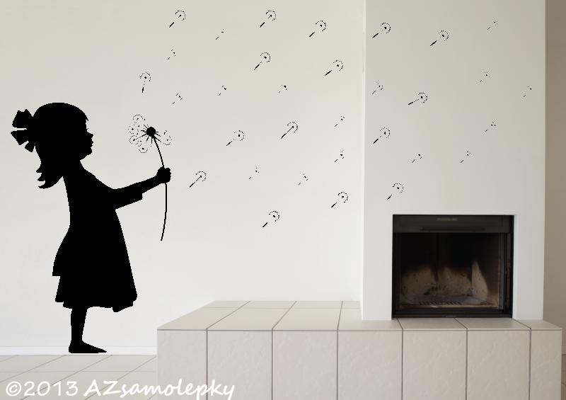 POSTAVY a OSOBNOSTI - Samolepky na zeď - Pampelišková holčička