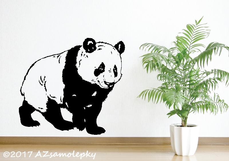 ZVÍŘATA - samolepky na zeď - Samolepky na zeď - Panda