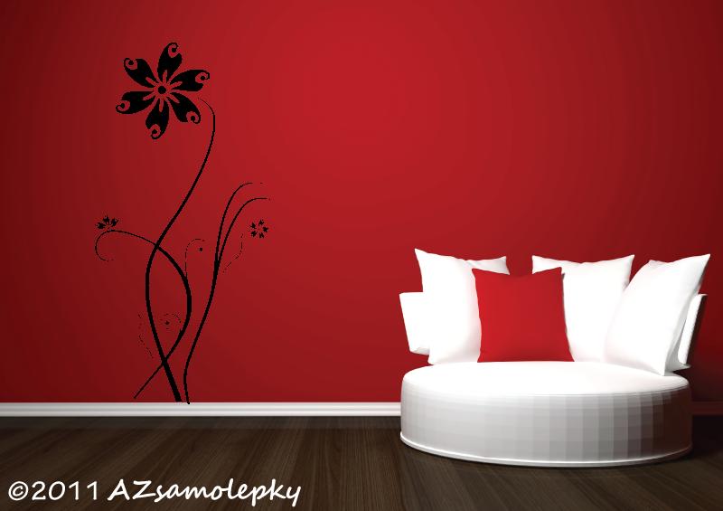 ROSTLINY - samolepky na zeď - Samolepky na zeď - Pnoucí květina Ring