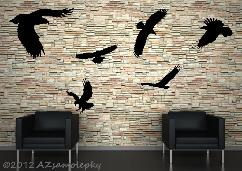 ZVÍŘATA - samolepky na zeď - Samolepky na zeď - Ptáci