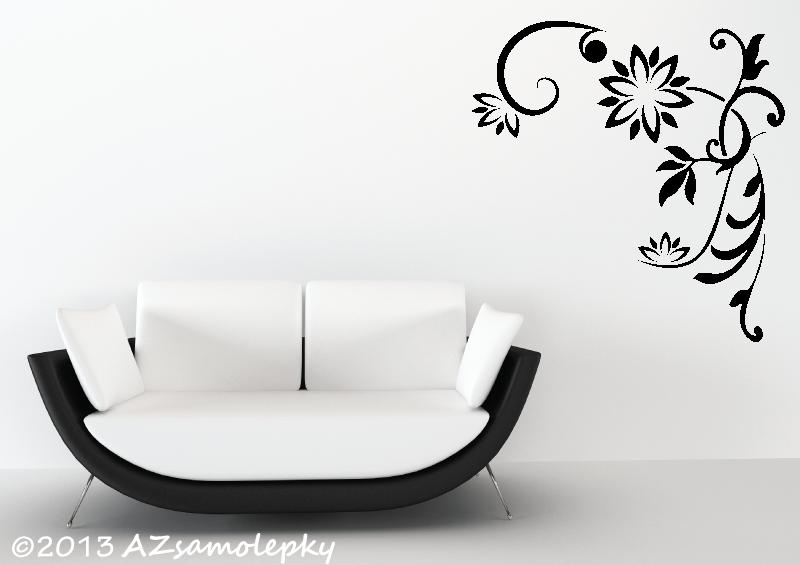 ROSTLINY - samolepky na zeď - Samolepky na zeď - Rohový ornament I.