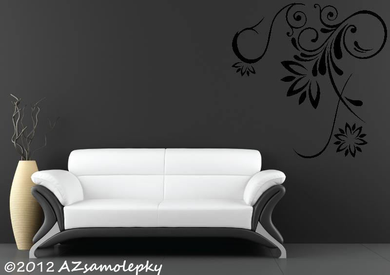 ROSTLINY - samolepky na zeď - Samolepky na zeď - Rohový ornament IV.