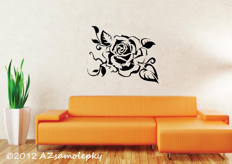 ROSTLINY - samolepky na zeď - Samolepky na zeď - Růže Tatoo