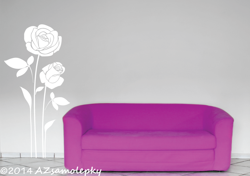 ROSTLINY - samolepky na zeď - Samolepky na zeď - Růže
