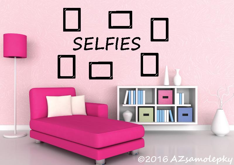 Samolepicí FOTOrámečky - Samolepky na zeď - Selfies