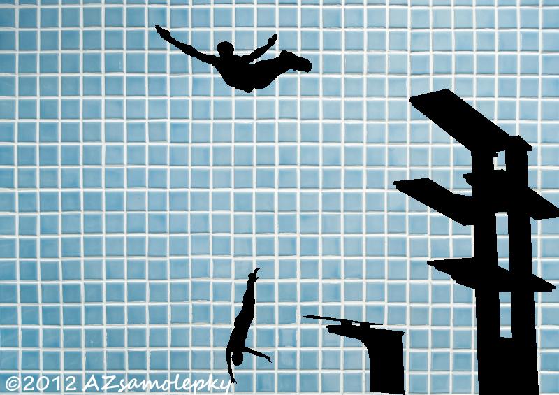 SPORT a ZÁJMY - samolepky na zeď - Samolepky na zeď - Skok do vody