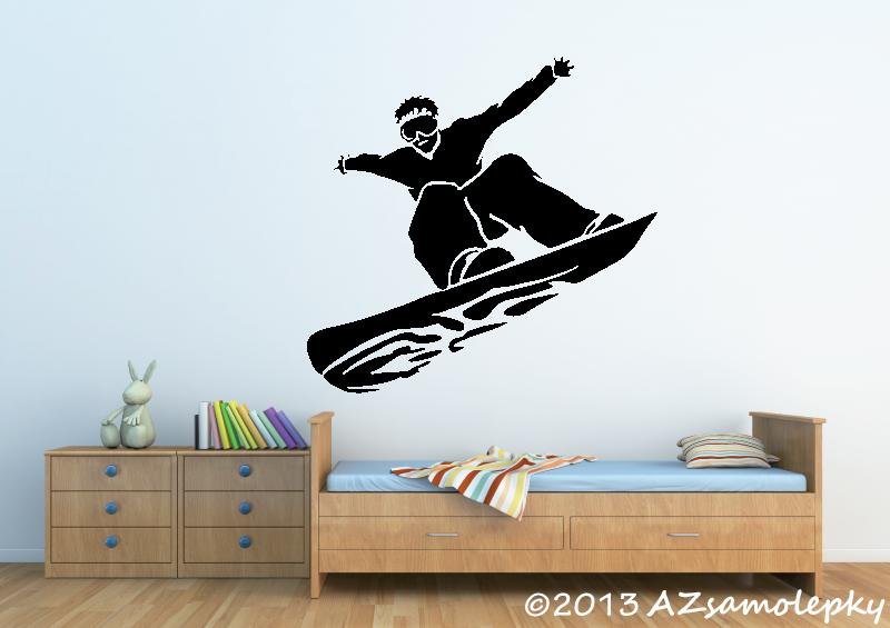 SPORT a ZÁJMY - samolepky na zeď - Samolepky na zeď - Snowboardista