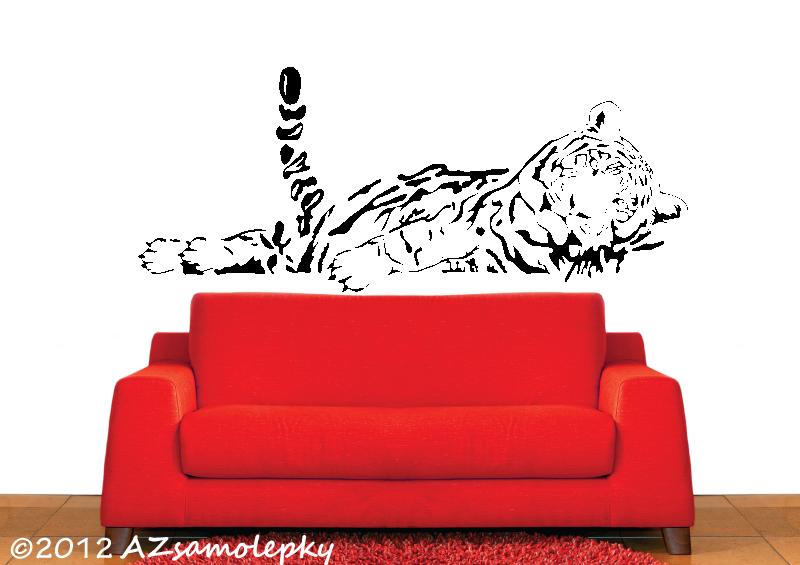 ZVÍŘATA - samolepky na zeď - Samolepky na zeď - Spící tygr