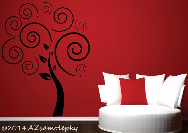 STROMY - samolepky na zeď - Samolepky na zeď - Spirálový strom